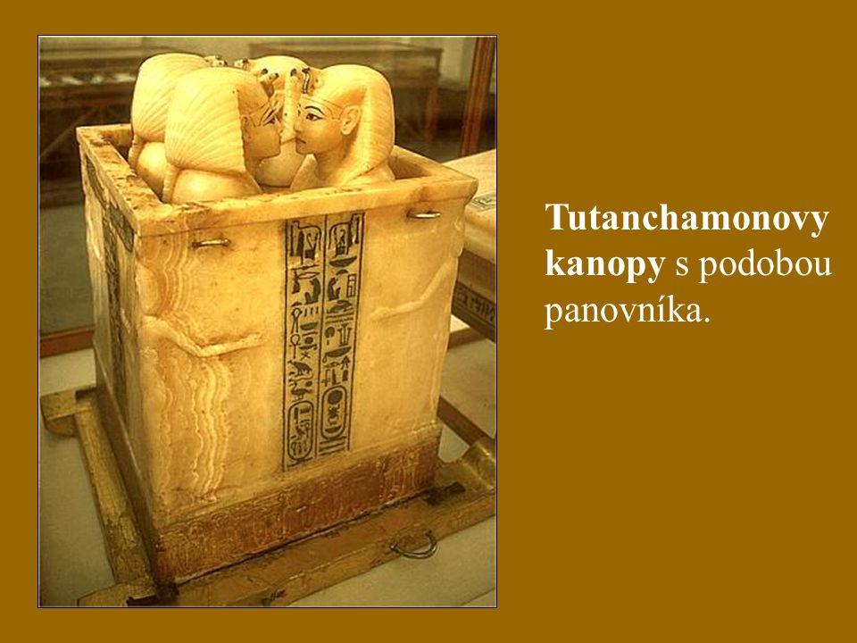 Tutanchamonovy kanopy s podobou panovníka.