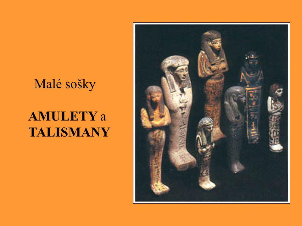 Malé sošky AMULETY a TALISMANY