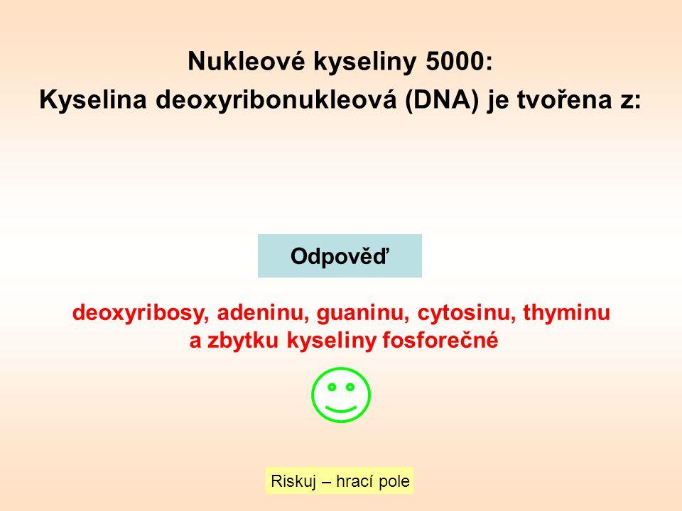 Nukleové kyseliny 5000: Kyselina deoxyribonukleová (DNA) je tvořena z: