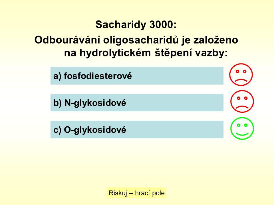 Odbourávání oligosacharidů je založeno na hydrolytickém štěpení vazby: