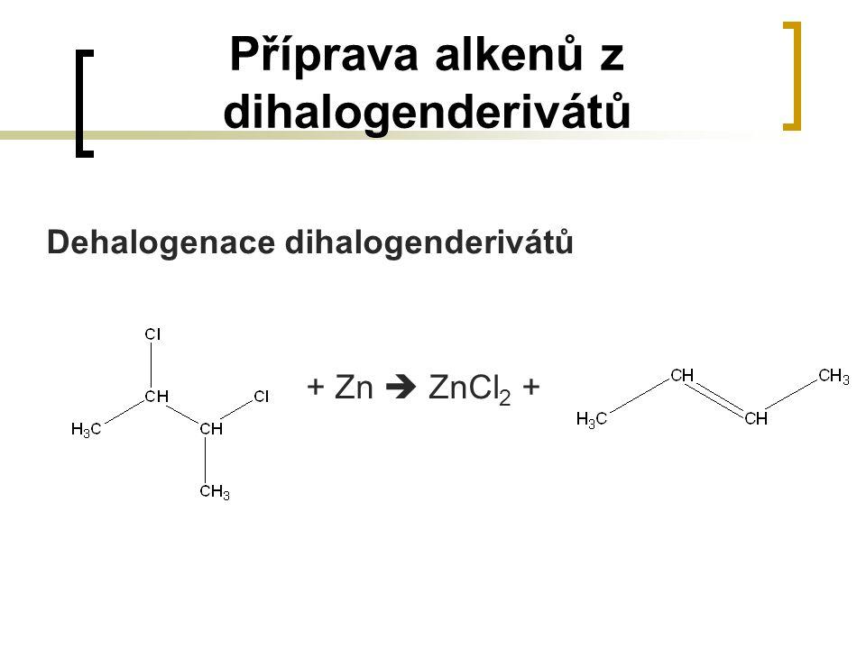 Příprava alkenů z dihalogenderivátů