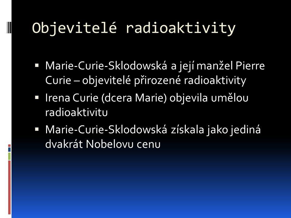 Objevitelé radioaktivity