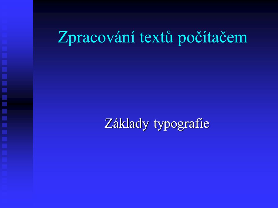Zpracování textů počítačem