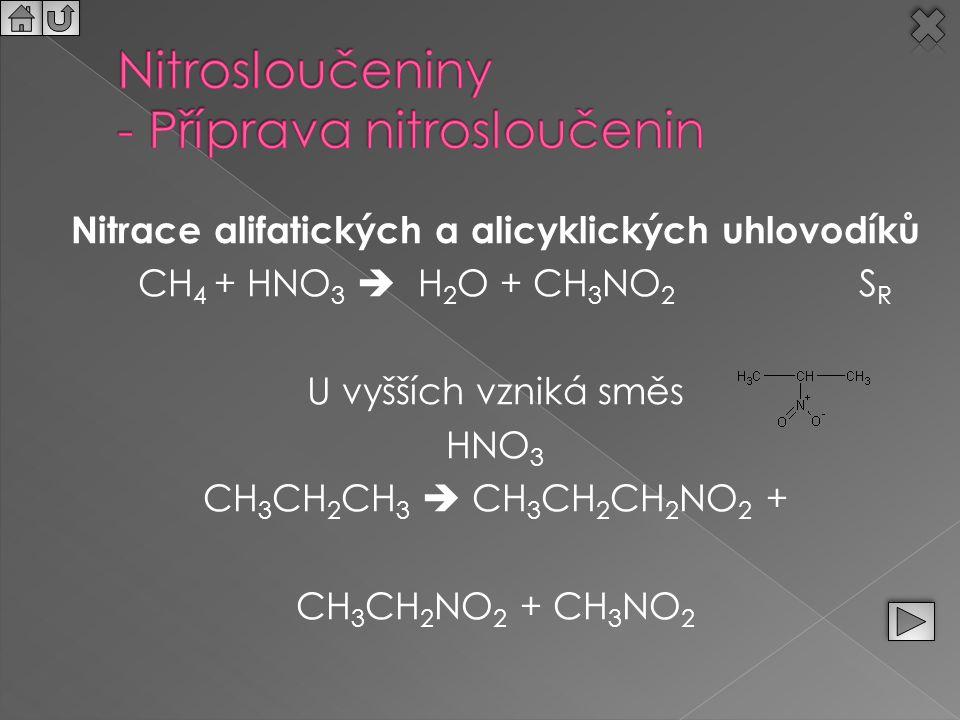 Nitrosloučeniny - Příprava nitrosloučenin