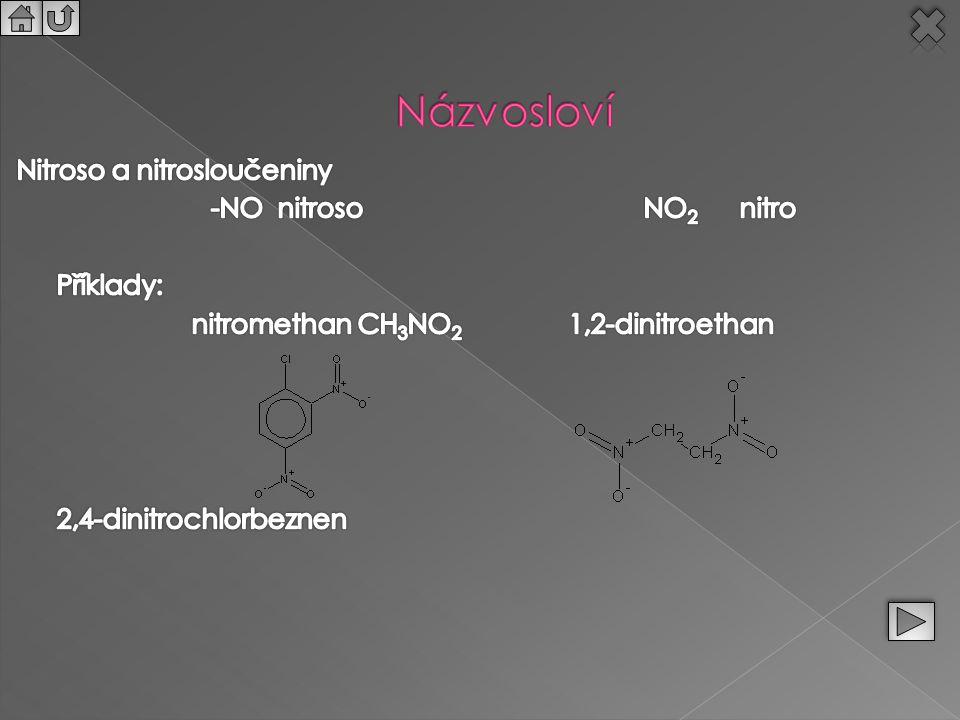nitromethan CH3NO2 1,2-dinitroethan