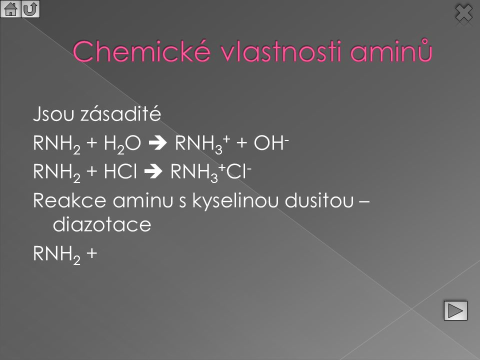 Chemické vlastnosti aminů