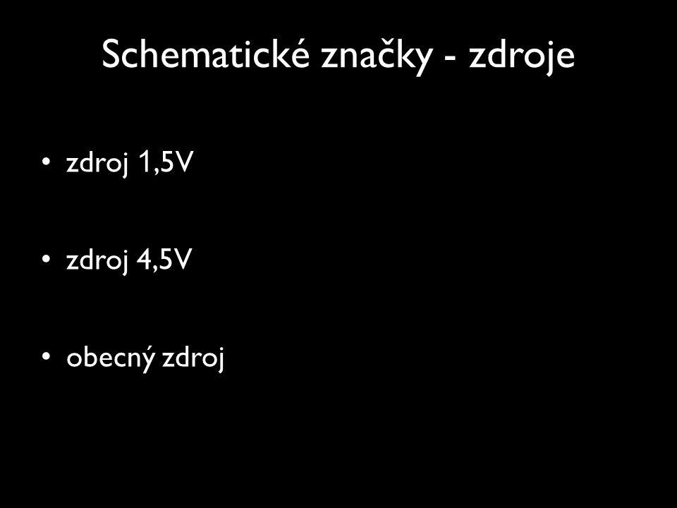 Schematické značky - zdroje