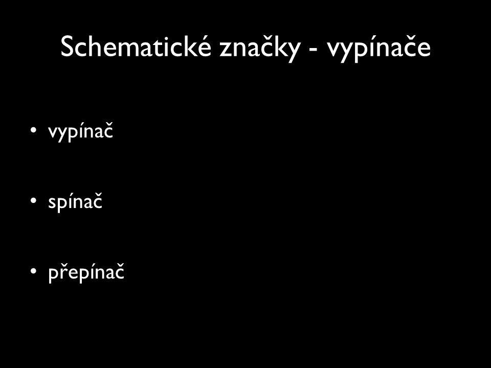 Schematické značky - vypínače