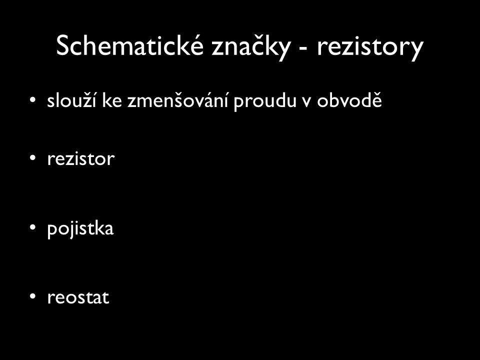 Schematické značky - rezistory