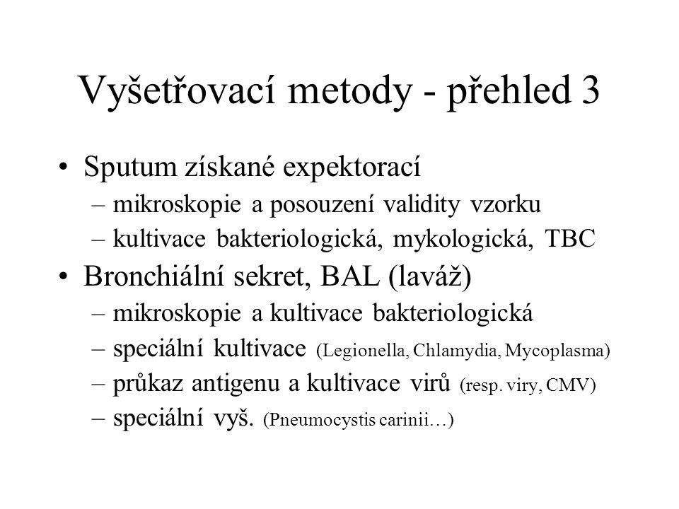 Vyšetřovací metody - přehled 3