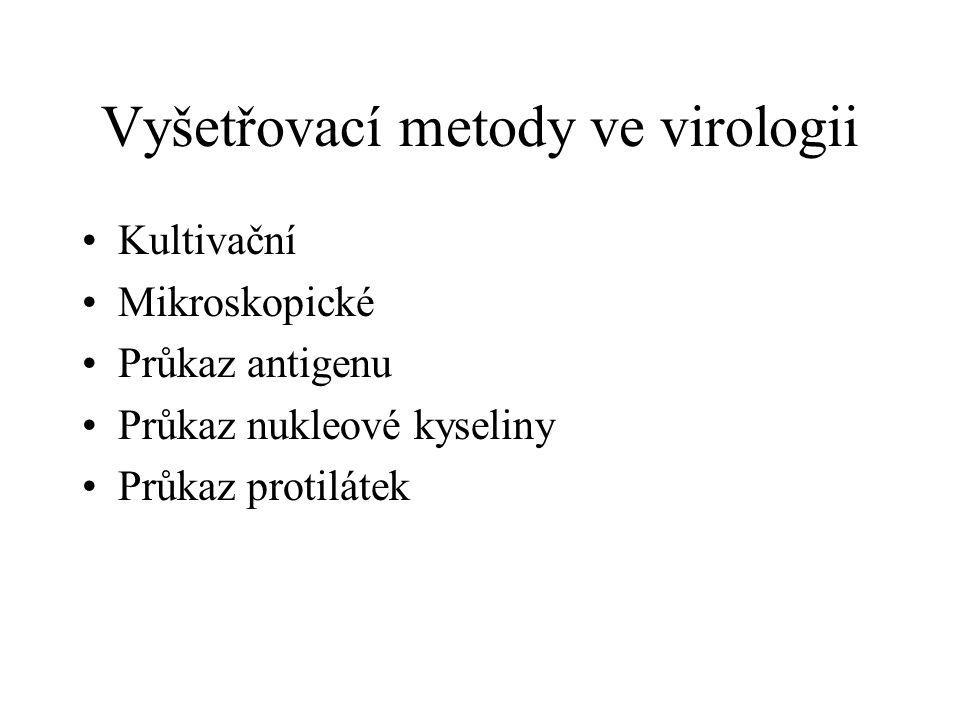 Vyšetřovací metody ve virologii