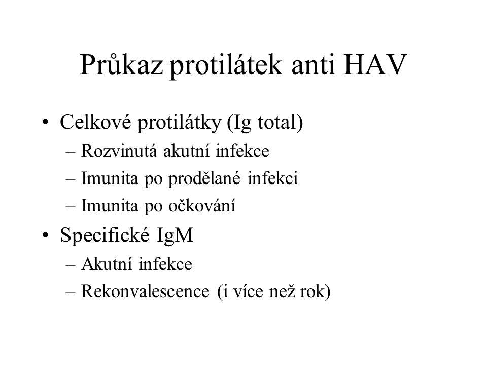 Průkaz protilátek anti HAV