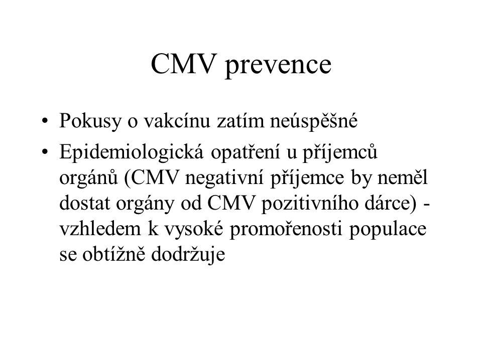 CMV prevence Pokusy o vakcínu zatím neúspěšné