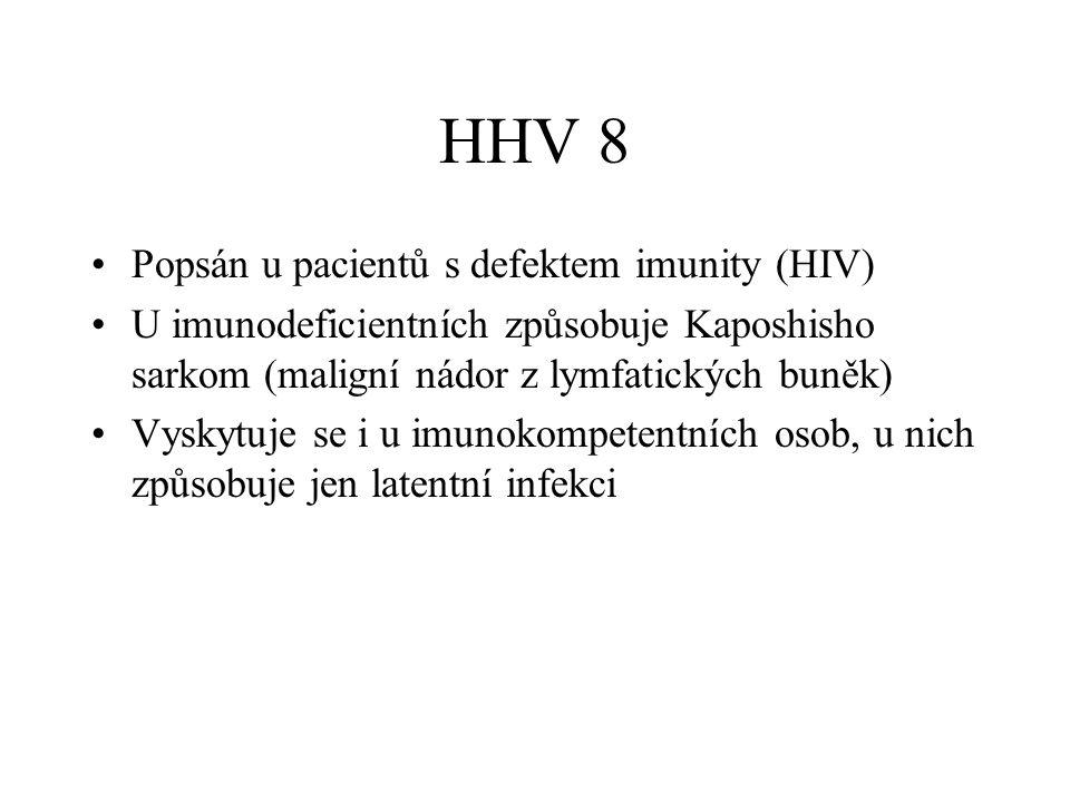 HHV 8 Popsán u pacientů s defektem imunity (HIV)