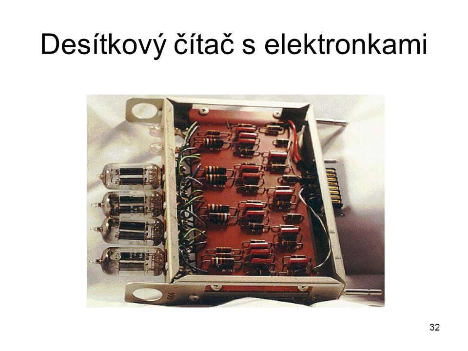 Desítkový čítač s elektronkami