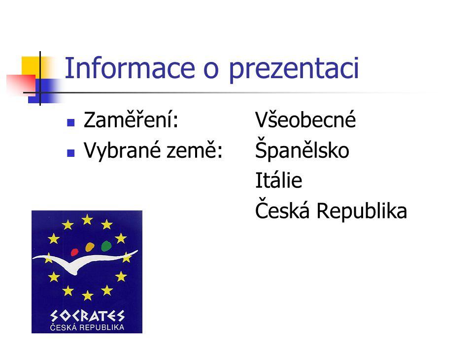 Informace o prezentaci