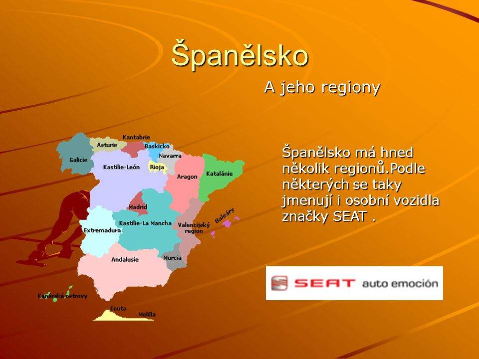 Španělsko A jeho regiony