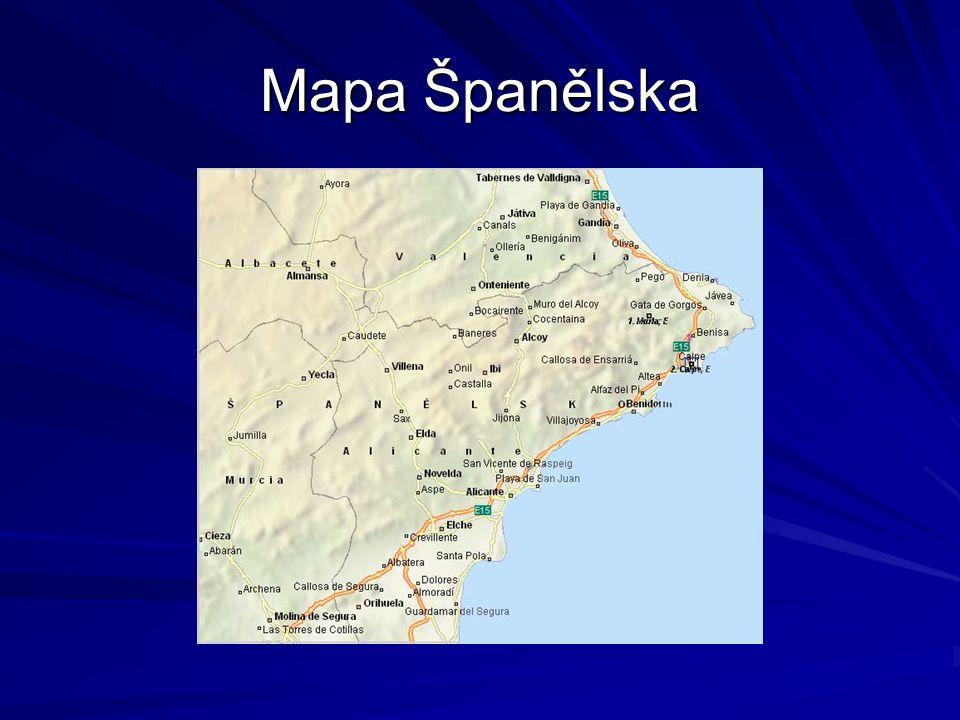 Mapa Španělska
