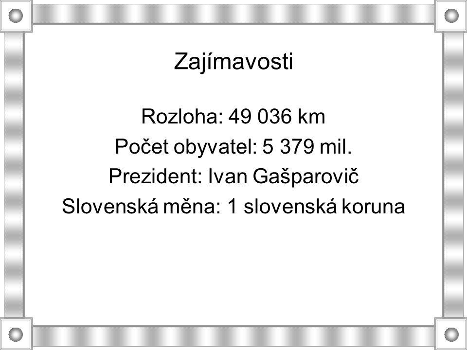 Zajímavosti Rozloha: 49 036 km Počet obyvatel: 5 379 mil.