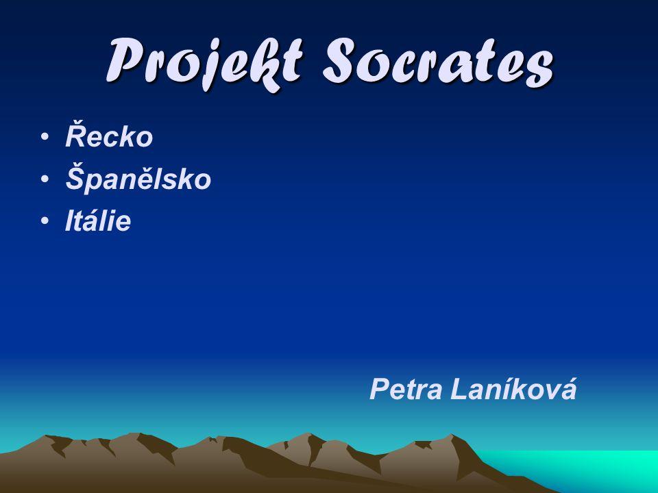 Projekt Socrates Řecko Španělsko Itálie Petra Laníková
