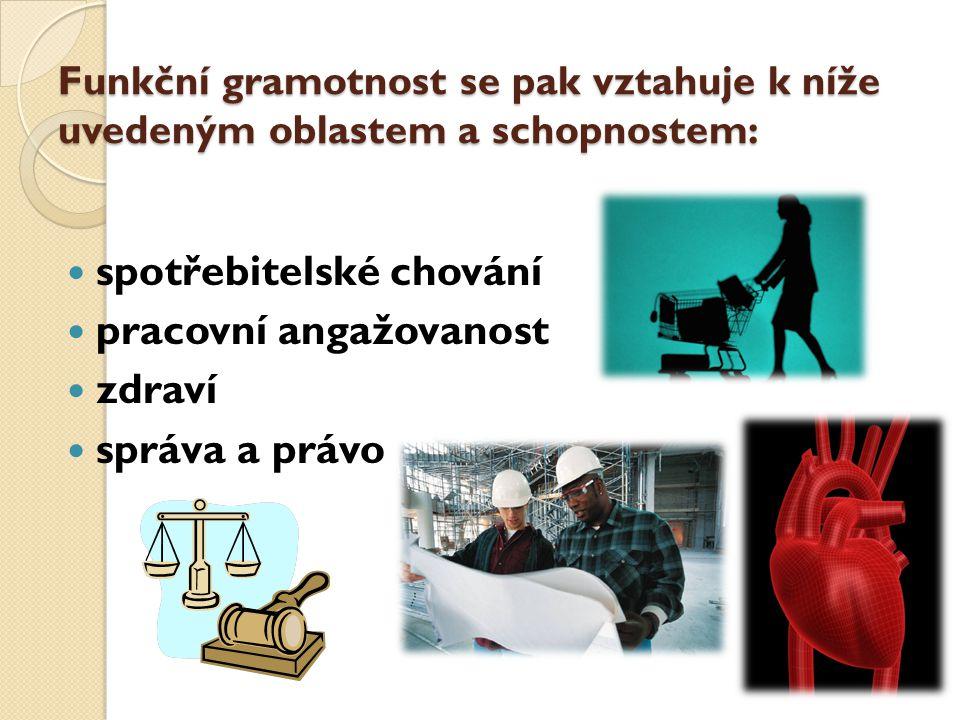 spotřebitelské chování pracovní angažovanost zdraví správa a právo