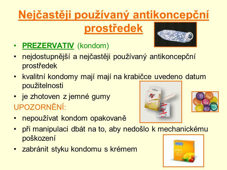 Nejčastěji používaný antikoncepční prostředek