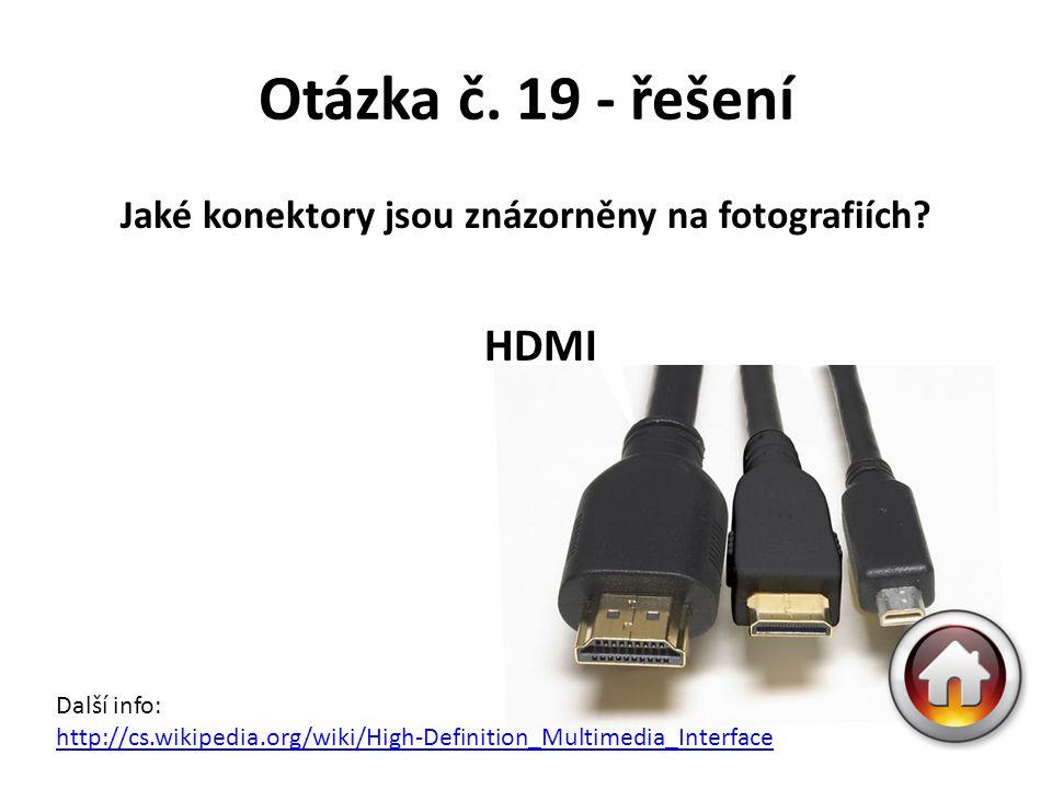 Jaké konektory jsou znázorněny na fotografiích