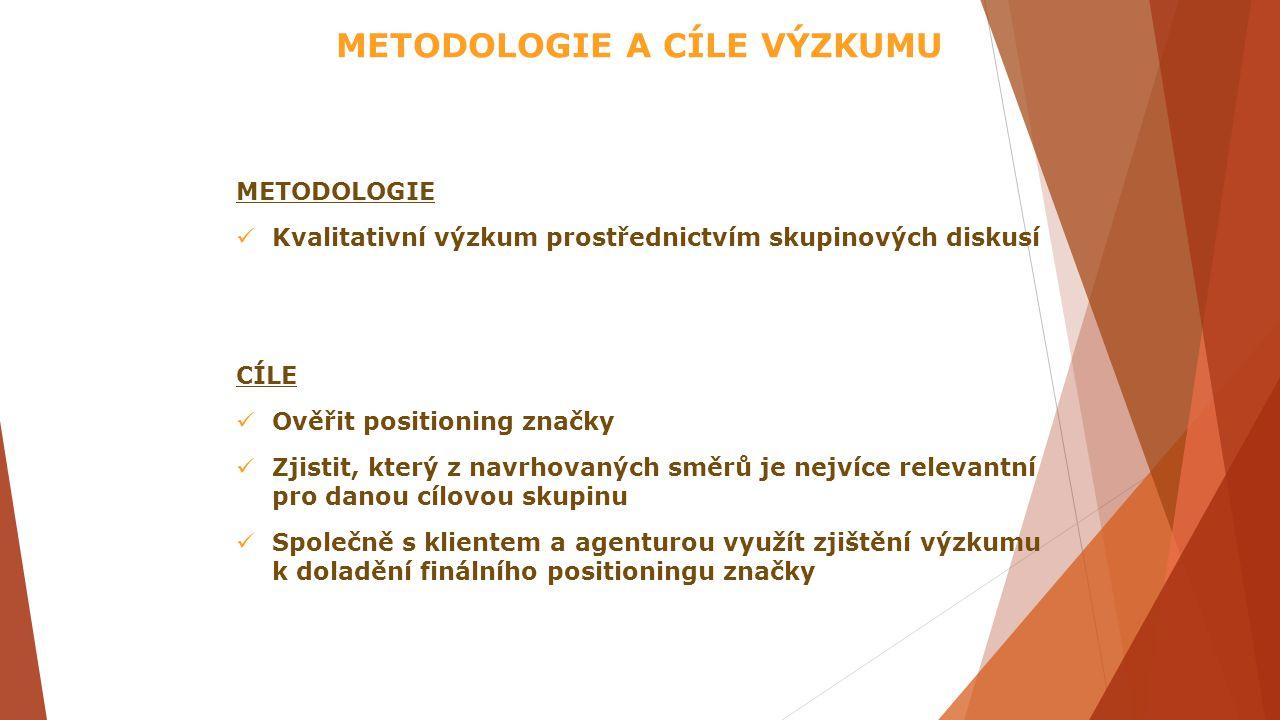 METODOLOGIE A CÍLE VÝZKUMU