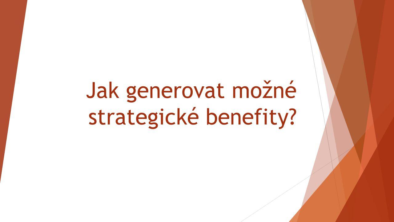 Jak generovat možné strategické benefity