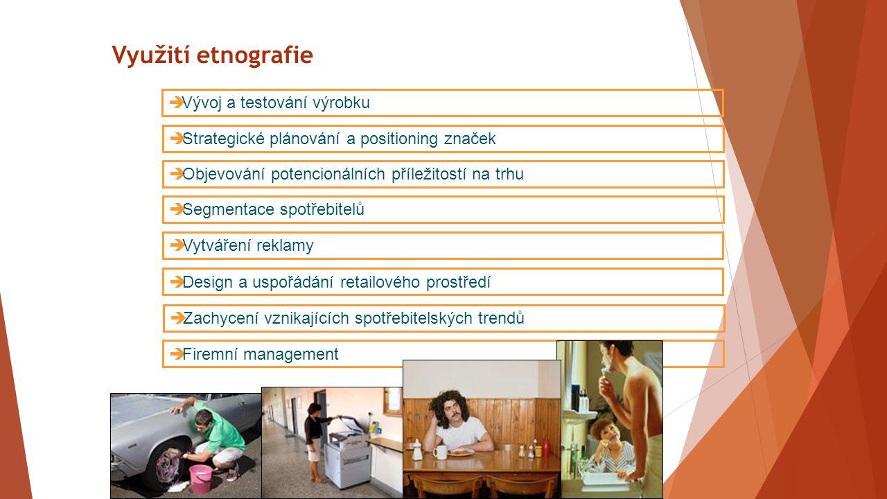Využití etnografie Vývoj a testování výrobku