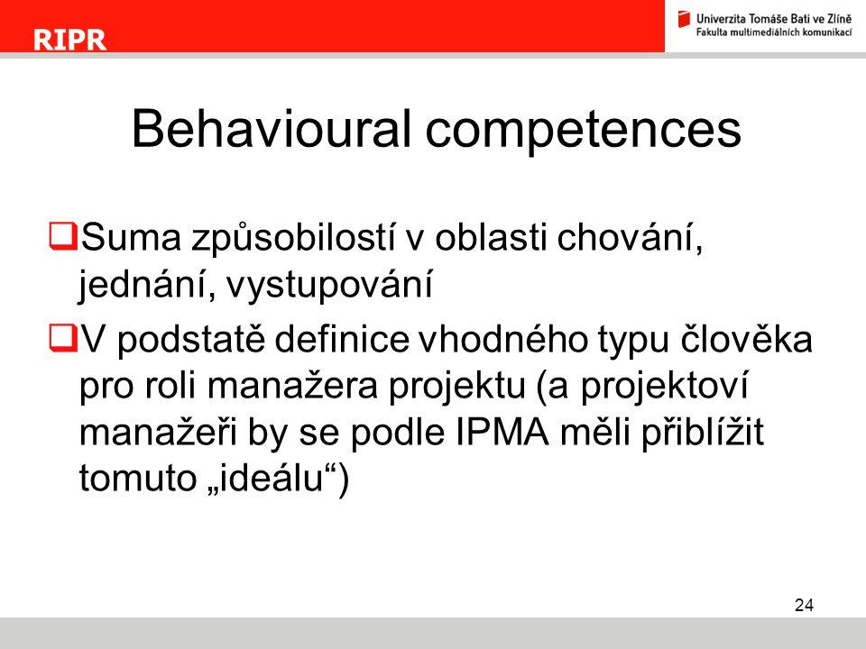 Behavioural competences