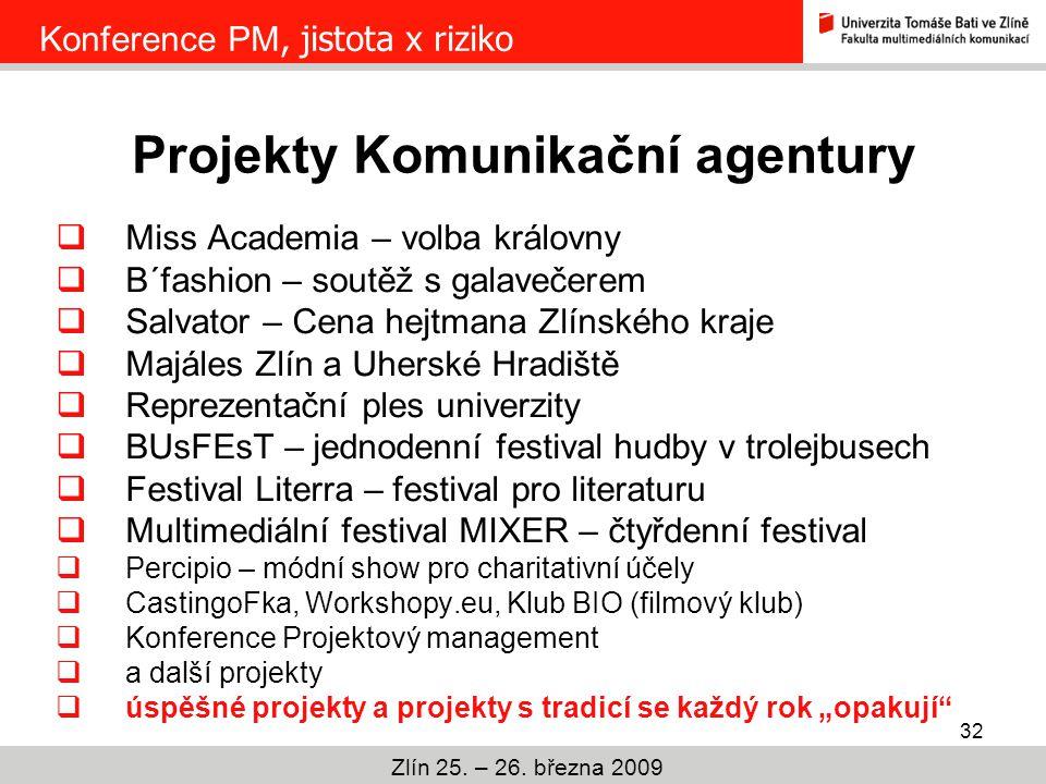Projekty Komunikační agentury