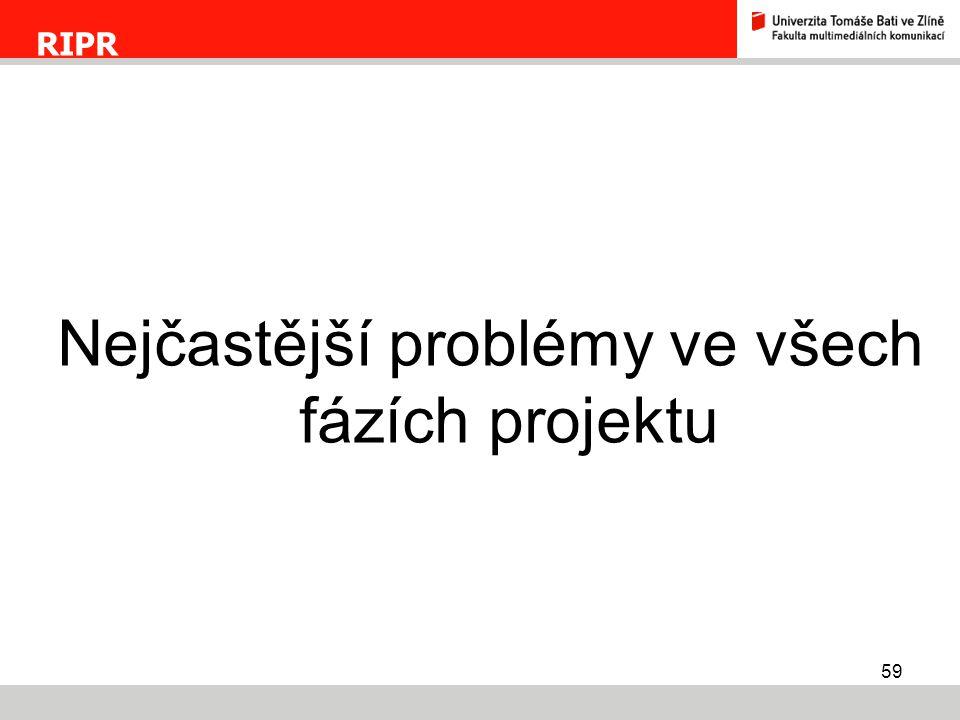 Nejčastější problémy ve všech fázích projektu