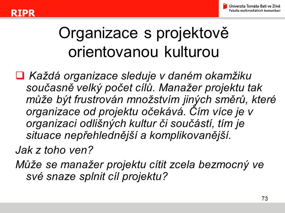 Organizace s projektově orientovanou kulturou