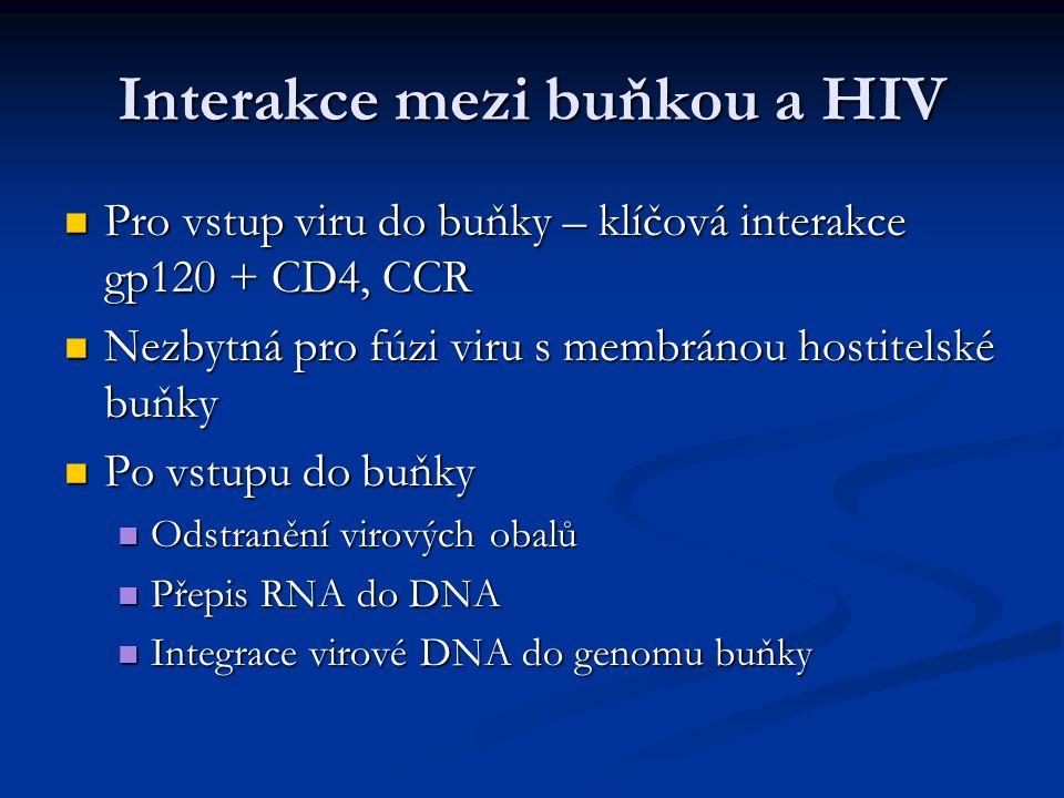 Interakce mezi buňkou a HIV