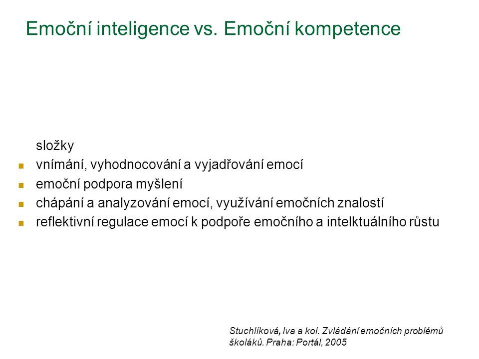 Emoční inteligence vs. Emoční kompetence