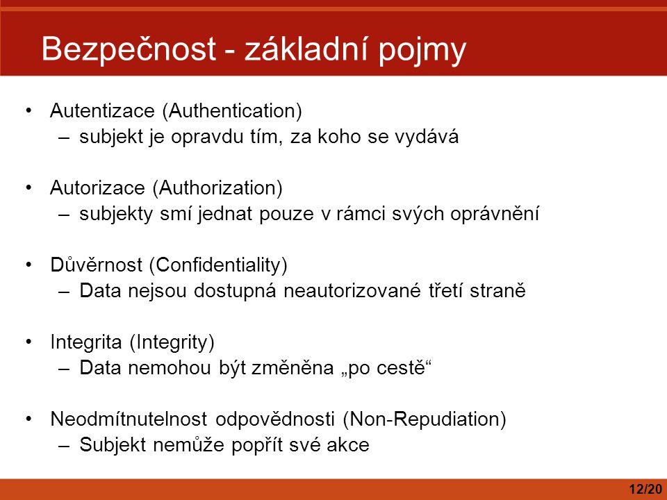 Bezpečnost - základní pojmy