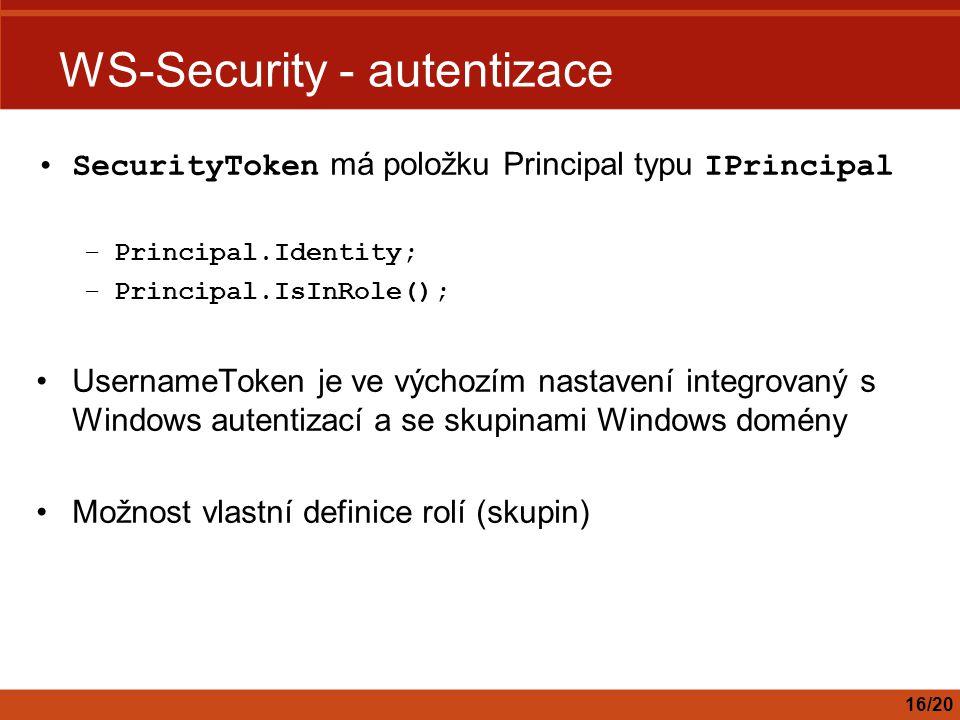 WS-Security - autentizace