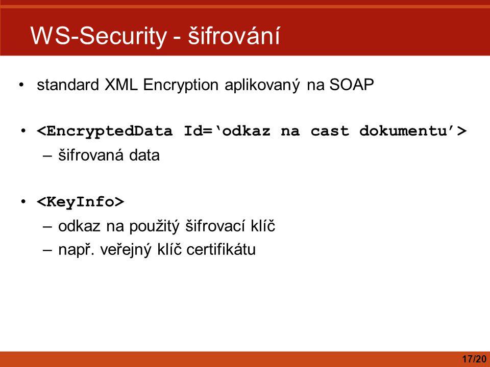 WS-Security - šifrování