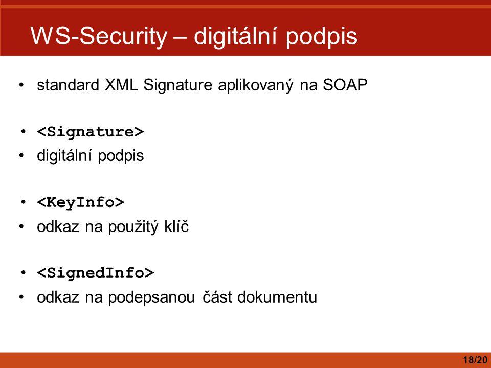 WS-Security – digitální podpis