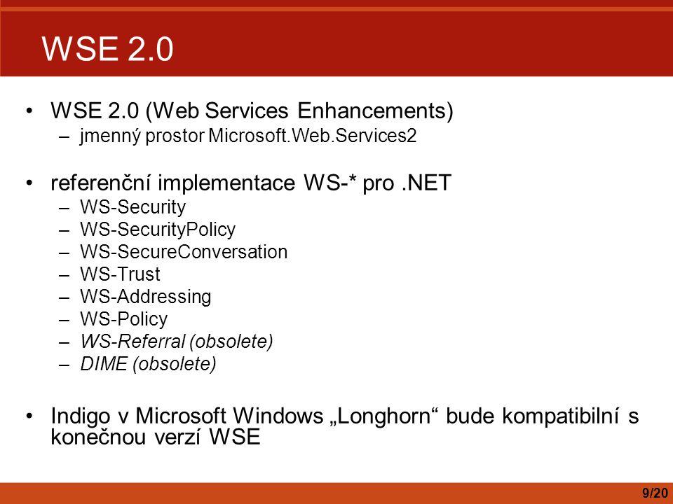 WSE 2.0 WSE 2.0 (Web Services Enhancements)