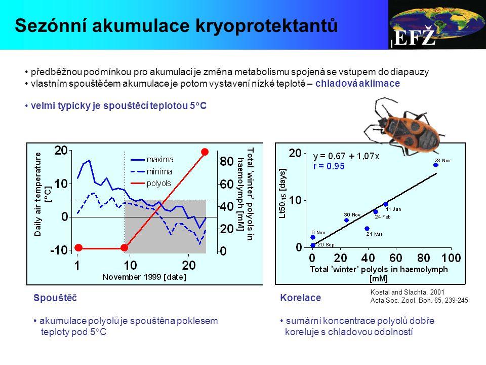 EFŽ Sezónní akumulace kryoprotektantů