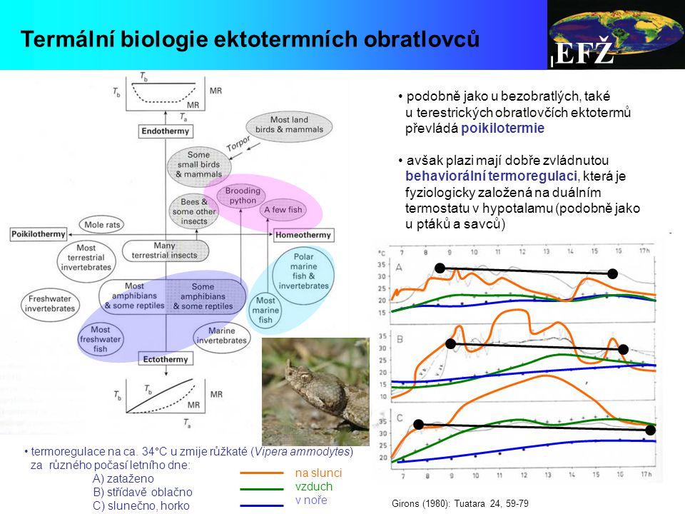 EFŽ Termální biologie ektotermních obratlovců