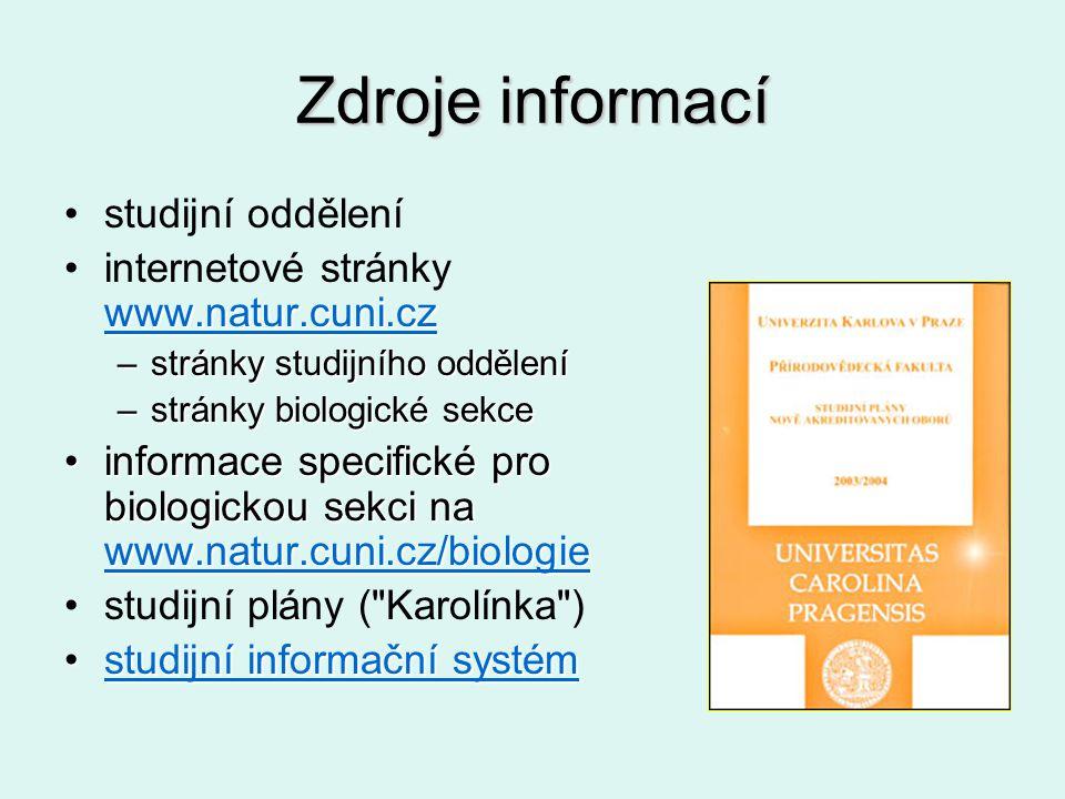 Zdroje informací studijní oddělení