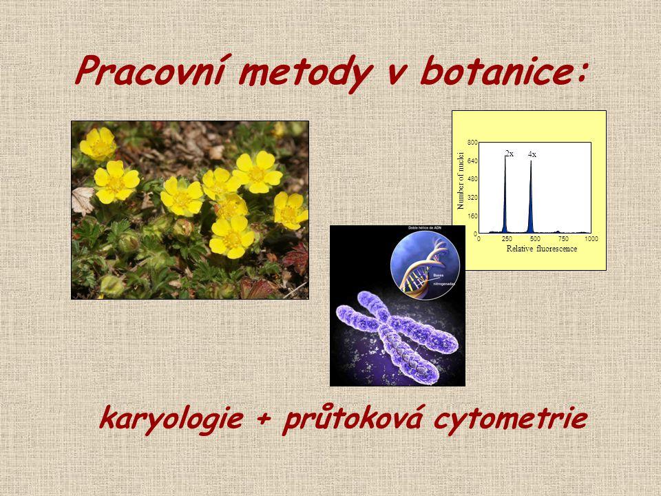 Pracovní metody v botanice: karyologie + průtoková cytometrie