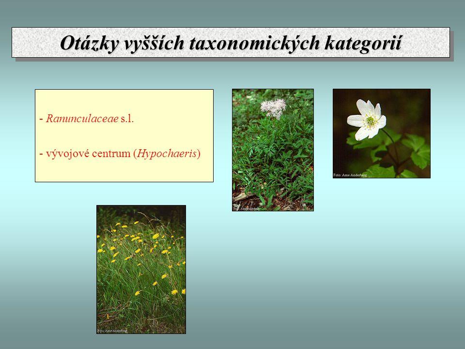 Otázky vyšších taxonomických kategorií