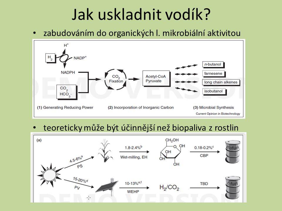 Jak uskladnit vodík. zabudováním do organických l.