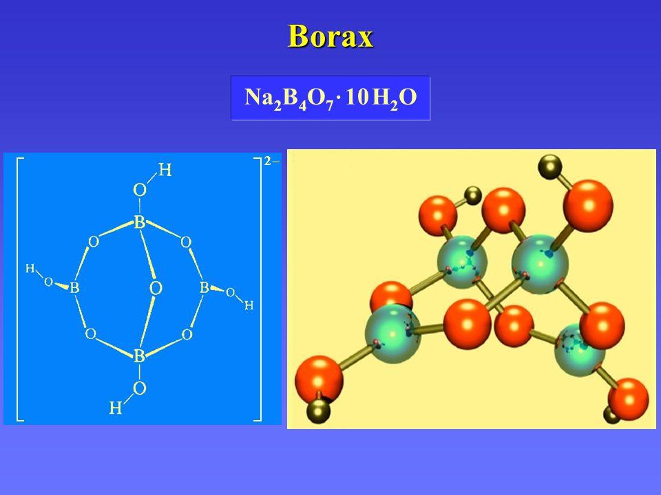 Borax Na2B4O7 · 10 H2O 2 –