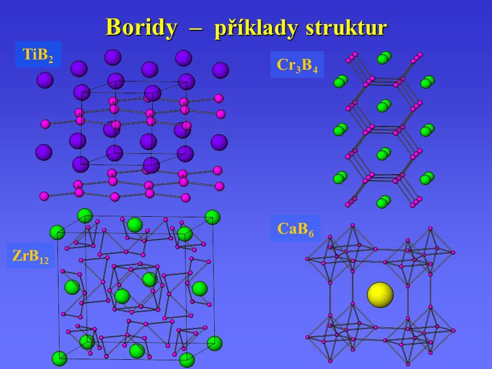 Boridy – příklady struktur