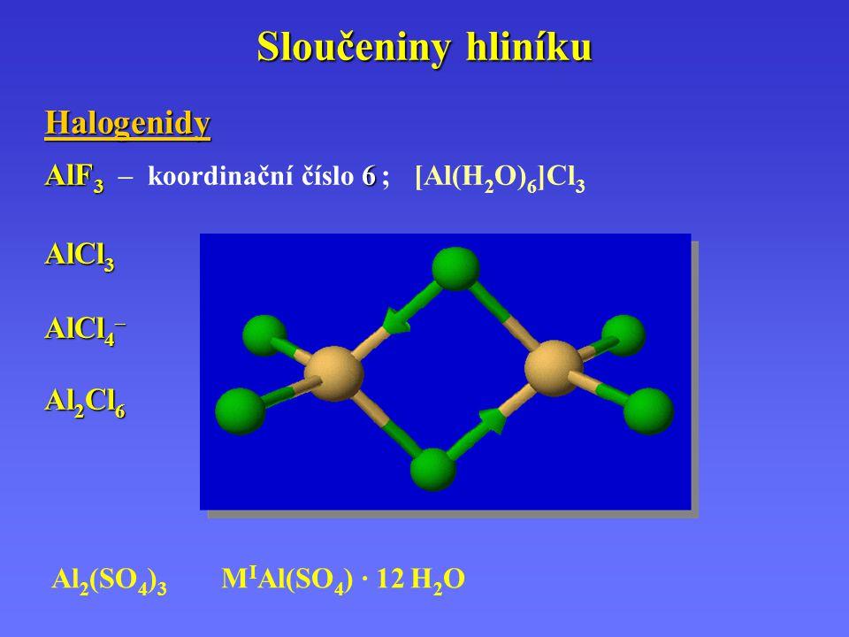 Sloučeniny hliníku Halogenidy